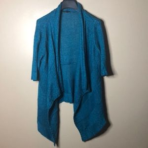 Eileen fisher alpaca and silk 3/4 sleeve cardigan